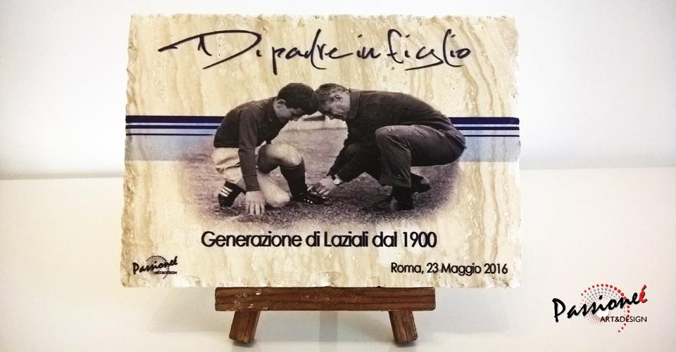 Retro della Targa disegnata da Passioneé Art&Design e data in omaggio ai giocatori durante l'evento